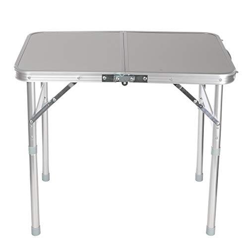 Mesa de playa de aleación de aluminio, mesa de pícnic, mesa grande y plegable, mesa portátil fácil de llevar, uso en el hogar (color: sin silla)