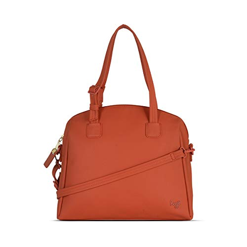 Baggit Spring-Summer 2021 Faux Leather Women's Bowling Handbag (Red) (Spangy)
