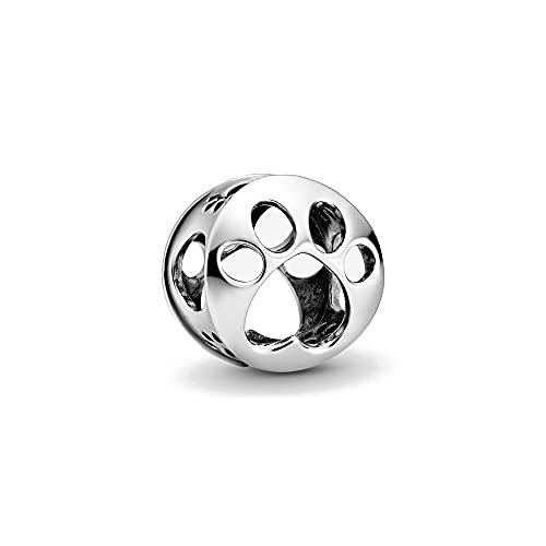 Pandora Fashion 925 Charm Au Ntic Sterling Silver Metal Beads Openwork Paw Print Fit Bracciale In Argento Originale Gioielli Da Donna
