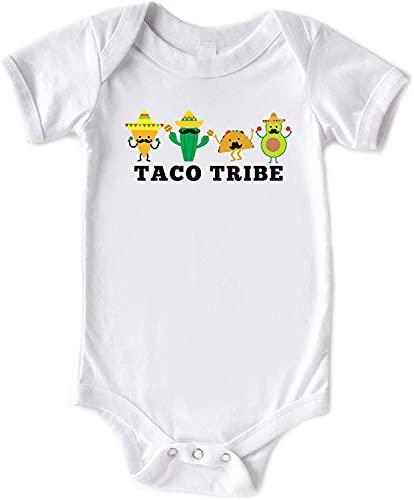 Toll2452 Baby Romper Taco Tribe Baby Cinco De Mayo Camisa de algodón para bebé,Body de bebé