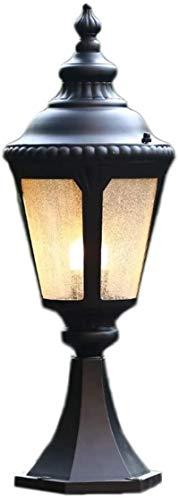 PQQ Lampione da Esterno Outdoor IP42 Impermeabile Colonna Stigma palo della Lampada fari Nordic Retro Bordo Piscina Pilastro Luci Antico Rustico Esterno Lampioni palo della Luce Paesaggio