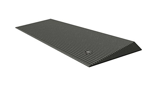 EZ-ACCESS TRANSITIONS Rubber Angled Entry Mat in Grey, 1.5