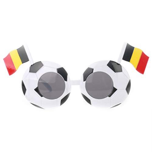 TOYANDONA Ftbol Fantico del Ftbol Novedad Gafas de Fiesta Bandera del Pas Gafas de Sol Disfraces Gafas para Conmemorar La Pelota Rey de Diego Armando Maradona Falleci (Blgica)