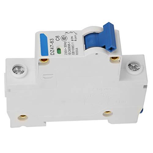 Durable 6KA Retardante de llama Resistente a la oxidación Alta confiabilidad Interruptor automático en miniatura de 1 polo 230V Eléctrico para sistemas de generación de energía(6A)