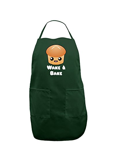 TooLoud Wake and Bake Cute Roll Dark Adult Apron - Hunter - One-Size