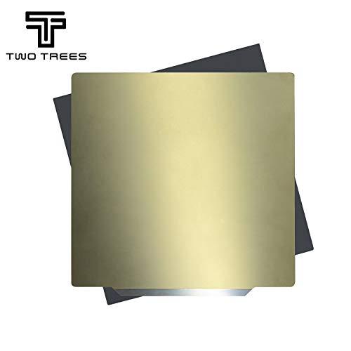 TWO TREES 3D Drucker Federstahl Magnetisch PEI Plattform Platte Durable Build Oberfläche (220x220mm)