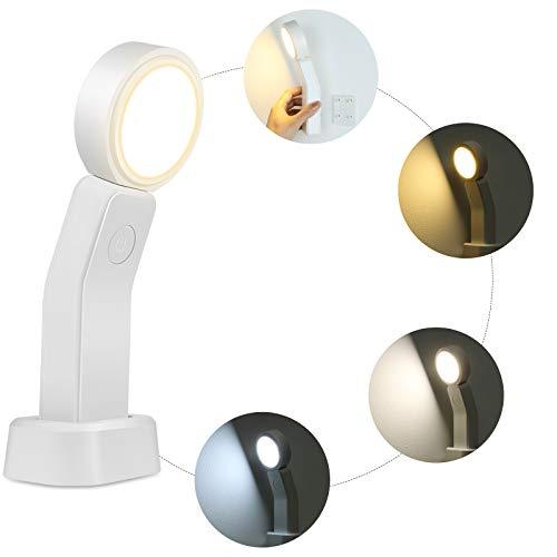 KANINO - Luz Nocturna Infantil LED Control Táctil Luz de Noche Niños con 360° de Rotación Brillo Ajustable, Mini Lámpara de Escritorio Recargable para Cocina, Escritorio, Armario