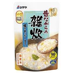 シマヤ 昔ながらの雑炊 焼きあごだし仕立て レトルト 230g×10袋入×(2ケース)