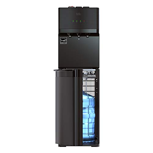 Brio Self Cleaning Bottom Loading Water Cooler Water Dispenser – Black Stainless Steel - 3 Temperature Settings - Hot, Room & Cold Water - UL Energy Star Approved