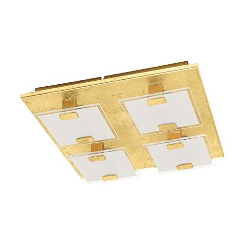 EGLO VICARO 1 Wand- / Deckenleuchte 4-flammig, Stahl, 2.5 W, goldfarben