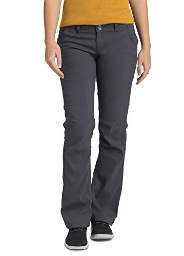 prAna - Women's Halle Roll-Up, Water-Repellent Stretch Pants for Hiking and Everyday Wear, Regular Inseam, Coal, 4