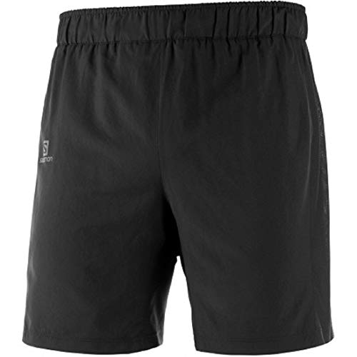 Salomon Herren 2-in-1 Lauf-Shorts, AGILE 2IN1 SHORT M, Synthetik, schwarz, Größe: M, LC1048700