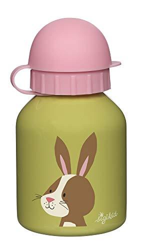 SIGIKID Mädchen, Edelstahl-Trinkflasche Hase Forest 250ml für Kindergarten & Ausflüge, BPA-frei, empfohlen ab 36 Monaten, grün/rosa, 25121
