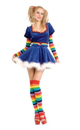 Big Sale Best Cheap Deals Sexy Rainbow Girl Adult Costume sz Medium