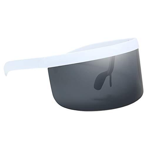 Sharplace Gafas de Sol de Moda Gafas de Mujer Hombre Lentes de Montura Grande - Gris