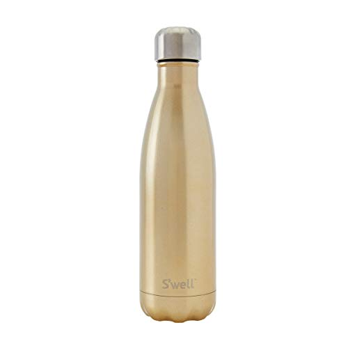 Stainless steel gold color water bottle