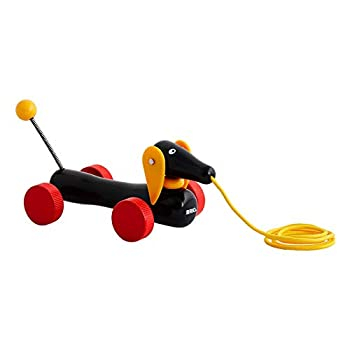 BRIO World - 30332 Pull Along Dachshund | The Perfect Playmate for Your Toddler