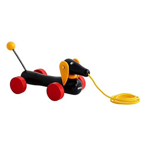 Product Image of the BRIO World - 30332 Pull Along Dachshund | The Perfect Playmate for Your Toddler