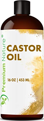 Rizinusöl Kaltgepresst Castor Oil Haarwachstum - Premium Nature Rizinus Öl für Body Haare Wimpern & Augenbrauen Wimpernserum Augenbrauenserum Feuchtigkeit für Haut & Haar