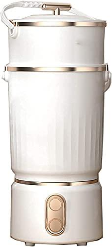 HYLK Mini Lavadoraportátil Mini Lavadora Deshidratación Doméstica Automática Mini Lavadora 3-5 Kg Lavado y Secado de Ropa Interior Cuidado y Limpieza Removible (Color: Blanco)
