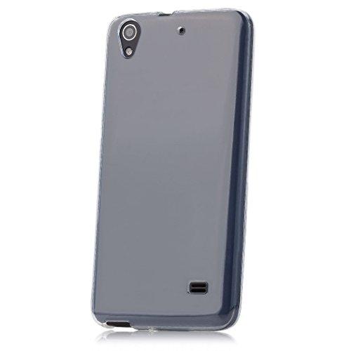 iCues Huawei Honor 4G   Transparent TPU Hülle Klar   [Bildschirm Schutzfolie Inklusive] Transparent Klarsichthülle Durchsichtig Klare Klarsicht Silikon Gel Schutzhülle Hülle Cover Schutz