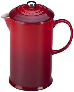 Le Creuset Stoneware 27oz. French Press, Cerise (Cherry Red)