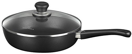 Scanpan Induction Plus Non-Stick Saute Pan with Lid, 10.25', Black