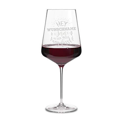 Leonardo Rotweinglas XXL 750 ml individuelle Gravur Geschenkidee Weinglas Rotwein - Jesus Wasser
