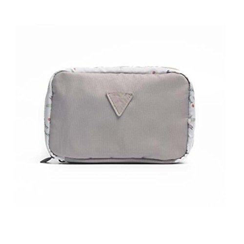 Sac cosmétique gris de sac de voyage de sac de sac de femmes