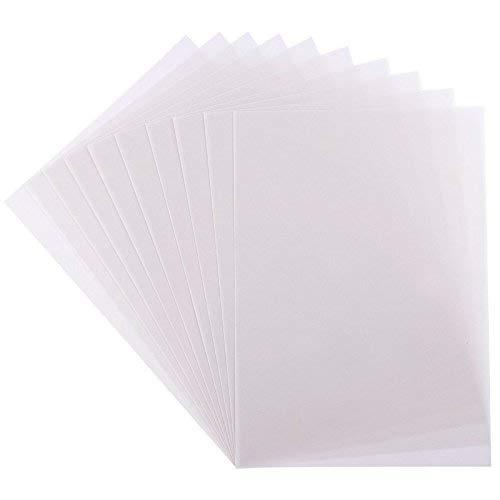 10 Transparentpapiere, DIN A4, weiß, 170g/qm, Premium-Qualität, extra hohe Grammatur   ideal zum Basteln, Scrapbooking, Kartengestaltung, Hochzeitskarten, Menükarten, DIY u.v.m.