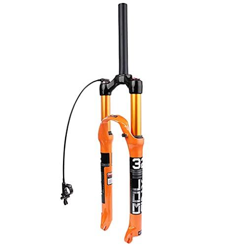 LYYCX 26 27,5 29 Pulgadas Horquilla de Suspensión de Bicicleta de Montaña, QR Recto/Cónico 9 mm Recorrido 120 mm Tenedor de Bicicleta de Montaña Horquilla de Aire de Aleación Ultraligera 1-1/8 Pul