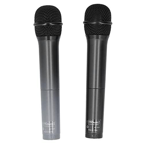 Micrófono inalámbrico, micrófonos duales Utiliza un micrófono inalámbrico con cabezal de audio de 6.5 mm para micrófono