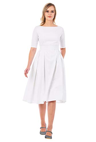eShakti FX Quincy Dress White