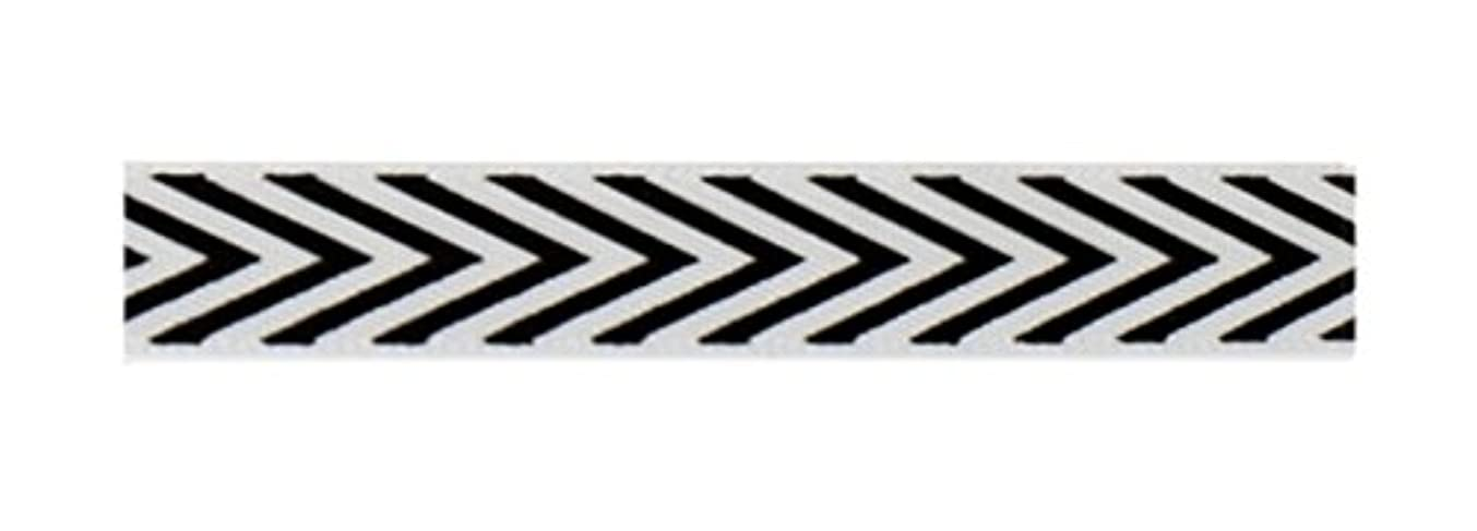 American Crafts Fabric Tape 3/8 Inch Black Chevron 3 Yards