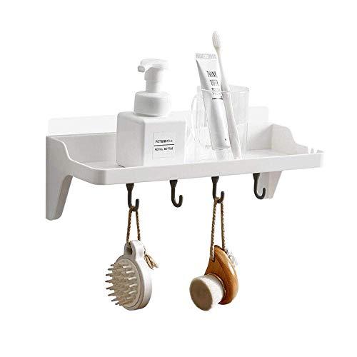 ZHTY Libre Estante De La Pared Perforada Dormitorio Pared del Hogar Baño Cocina Baño Wall Rack De Almacenamiento Compartida IKEA - Blanco Dos