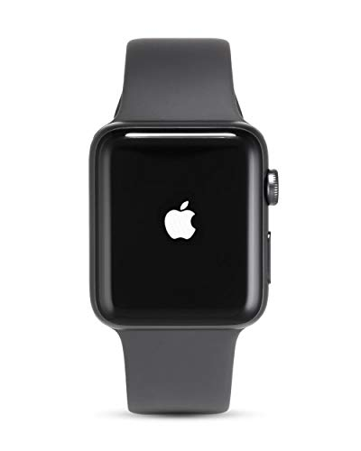 Apple Watch Series 3, 42 mm, GPS, Aluminium Gehäuse, Space Grau mit Sport-Armband, Grau, 2017 (Generalüberholt)