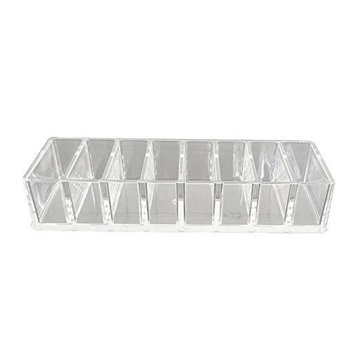 QCCOKNN Caja de almacenamiento de escritorio transparente rectangular cosméticos cuidado de la piel productos cajón estante de almacenamiento