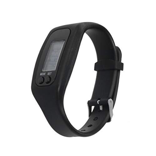 Baluue Rastreador de Ejercicios: podómetro de Reloj Digital 3D de 2 Piezas para Caminar y Correr Simplemente operación Contador de Pasos preciso con Quema de calorías y visualización de Fecha