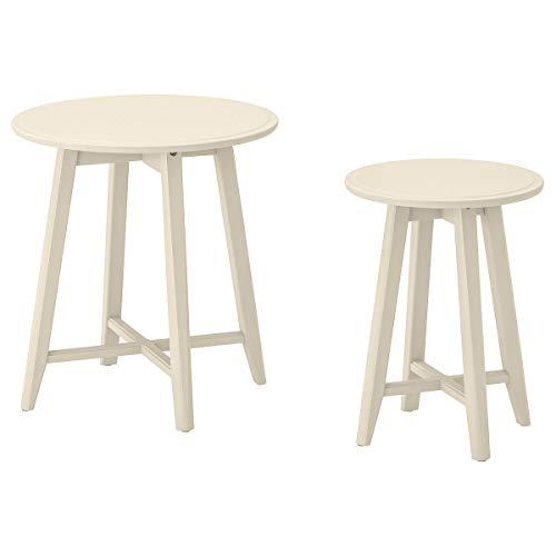 IKEA KRAGSTA - Juego de mesas nido (2 unidades), color beige
