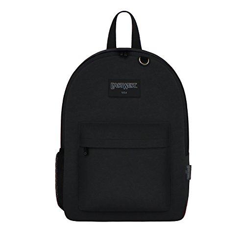 East West U.S.A Einfache Schultasche für Schüler., Unisex Kinder, B101S, Schwarz , 42 cm