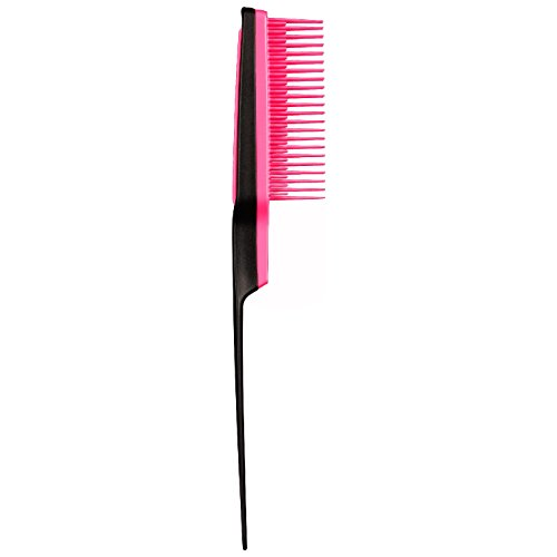 Tangle Teezer Back Combing Hairbrush, Black/Pink