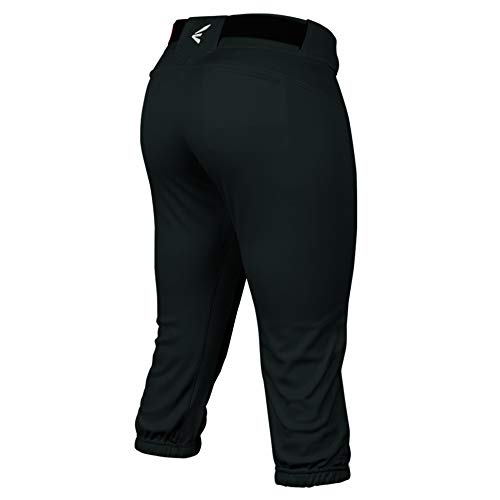 Easton PROWESS Fastpitch Softball Pant | Women's | Small | Black | 2020 | 4 Way Stretch Mesh Inserts for Ultimate Fit + Comfort | Double Reinforced Knee | Elastic Waistband | Scotchgard | Zipper