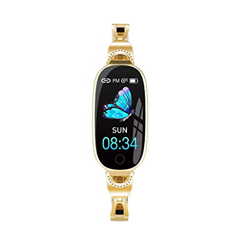 HAHAP L18 Fitness Tracker,Color Screen Activity Health Tracker with Heart Rate Blood Pressure Monitor Bracelet, Waterproof Calorie Counter, for Women