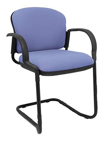 Piqueras Y Crespo 08PBALI261 bureaustoel met vaste armen, lichtblauw