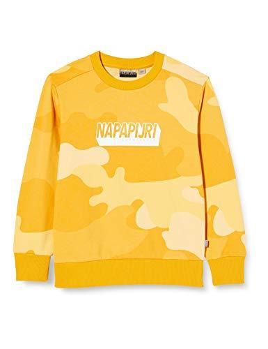 Napapijri Jungen K Ben C Sweatshirt, Mehrfarbig (Yellow CAMO FU7 FU71), 128 (Herstellergröße:8)