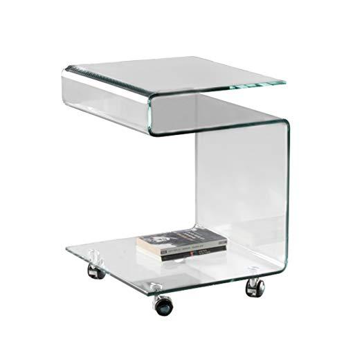 Schuller Mesa Auxiliar de Cristal Transparente : Colección Glass