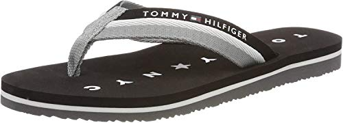 Tommy Hilfiger Tommy Loves NY Beach Sandal, Chanclas para Mujer, Negro (Black 990), 39 EU