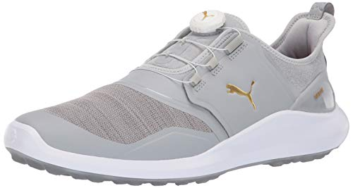 Puma Golf Men's Ignite Nxt Disc Golf Shoe, high Rise-puma Team Gold-puma White, 9 M US