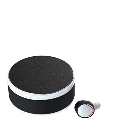 TwoCC-Bluetooth-Kopfhörer, Me-28 Bluetooth-Headset Me8 auf Legierung Ladefach Aluminium Ohr kann Stereo Wireless True(Weiß) gedreht werden