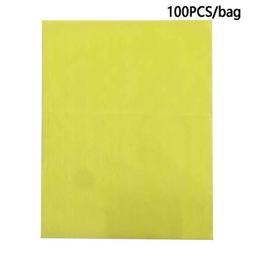 100 Hojas Carbono Papel de Calco Trazos Papel A4 Colorido Papel de Calco Trazos Grafito Copia Papel para Madera, Papel, Lienzo - Amarillo